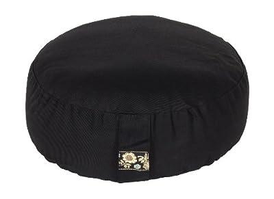 Meditationskissen Glückssitz Basic schwarz, Ø 33 cm x 15 cm, Bezug und Inlett 100% Baumwolle, Bezug und Inlett maschinenwaschbar bis 30º C