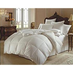 1000 Thread Count Full 1000TC Goose Down Alternative Comforter 750FP, White 1000 TC