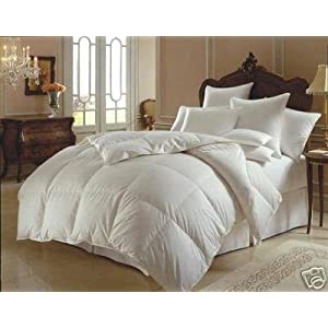 1200 Thread Count King 1200TC Goose Down Alternative Comforter 700FP, White 1200TC
