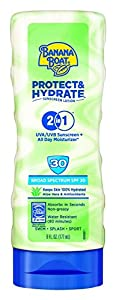 Banana Boat Sunscreen Protect and Hydrate Moisturizing Broad Spectrum Sun Care Sunscreen Lotion - SPF 30, 6 Ounce