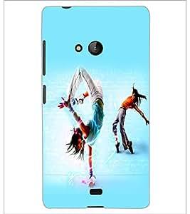 PrintDhaba Dance D-2267 Back Case Cover for MICROSOFT LUMIA 540 (Multi-Coloured)