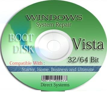 BOOT RESTORE & RECOVERY for WINDOWS VISTA 32