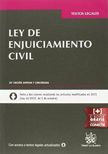 Ley de Enjuiciamiento Civil 28ª Edición 2016 (Textos Legales)