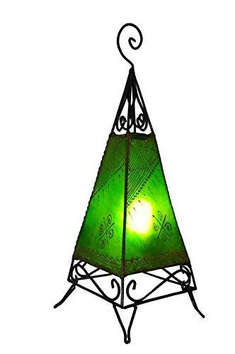 lampe-au-henne-marocain-60cm-pyramide-vert