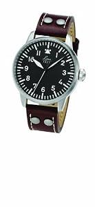 Laco 1925 861688 - Reloj analógico automático para hombre, correa de cuero color marrón