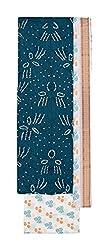 Bandhej Mart Women's Cotton Salwar Suit Material (Rama Green and White)