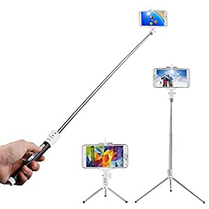 innogear selfie stick with remote shutter and telescopic tripod self portrait self. Black Bedroom Furniture Sets. Home Design Ideas