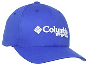 Columbia Women's PFG Fitted Ball Cap, Vivid Blue, Large/X-Large