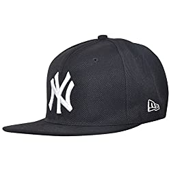 NY 56Fifty Cotton Cap (Black/White-7) For Men