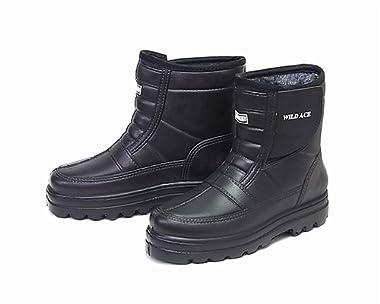 メンズ 超軽量EVA 裏ボア 防水防寒ブーツ かるぬく ショート hakimonoya-n2502-13 ブラック L(25.5-26.0cm)