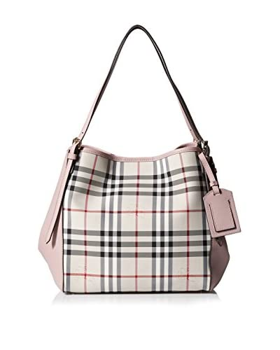Burberry Women's The Small Canter In Horseferry Check and Leather, Stone/Pale Orchid