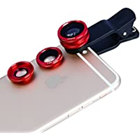 Apexel New Clip Lens 3 In 1 Phone Lens Kit 180 Degree Fisheye + 0.65x Supreme Wide Angle + 10x Macro Lens For...