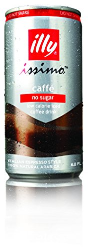 Illy issimo Coffee Drink, Caffe (No Sugar), 6.8-Ounce Cans (Pack of 12)