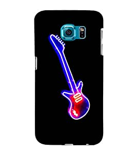 printtech LED Colored Guitar Back Case Cover for Samsung Galaxy S6::Samsung Galaxy S6 G920