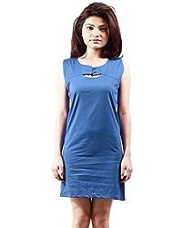 Grahcjows Creations Women's Dress (GCDRS1019_Blue_Medium)