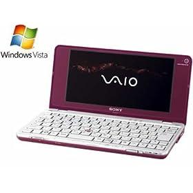 ソニー VAIO typeP P70H VistaHomeBasic ワンセグ ガーネットレッド VGN-P70H/R
