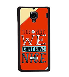 printtech Nice Things Quote Back Case Cover for Xiaomi Redmi 1S , Xiaomi Redmi (1st Gen)