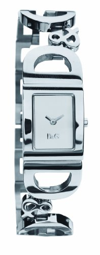 Dolce  &  Gabbana DW0494 Women's Analog Quartz Watch with Silver Stainless Steel Bracelet