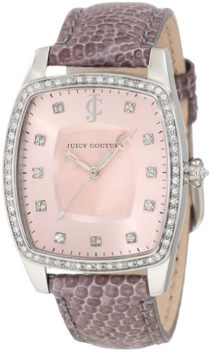 Juicy Couture Women's 1900980 Beau Grey Leather Strap Watch
