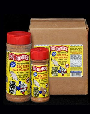 Obie-Cue's Texas Spice BBQ Bomber Rub & Bean Seasoning - National Title 1st Place Chicken Rub (4 oz)