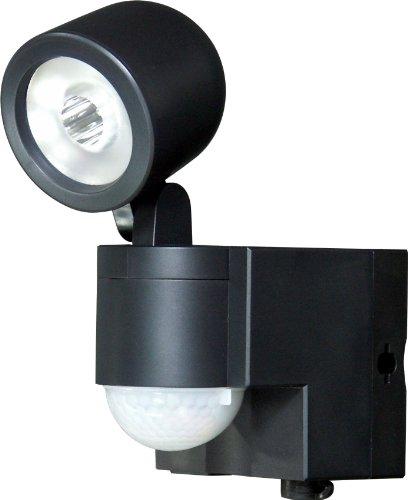ELPA 乾電池式LEDセンサーライト1灯 ESL-101BT(BK)