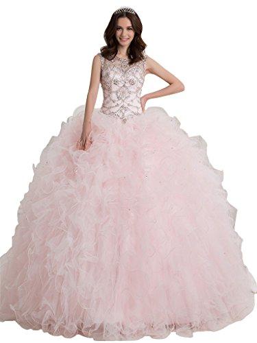 Broybuy-Mujer-Sheer-Scoop-Cuello-Cuentas-Cristal-Ball-Gown-Vestidos-de-Quinceaera