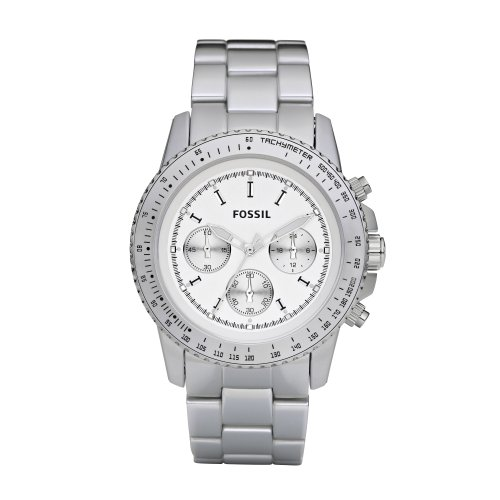 Fossil Men's Silver Coloured Aluminium Stella Chrono Watch - Ch2745