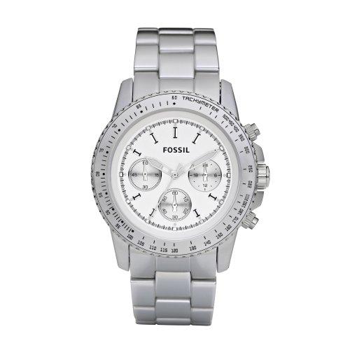 Fossil Men's Silver Coloured Aluminium Stella Chrono Watch - Ch2745