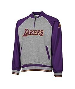 Los Angeles Lakers NBA Men's 1/4 Zip Pullover Sweatshirt, Gray