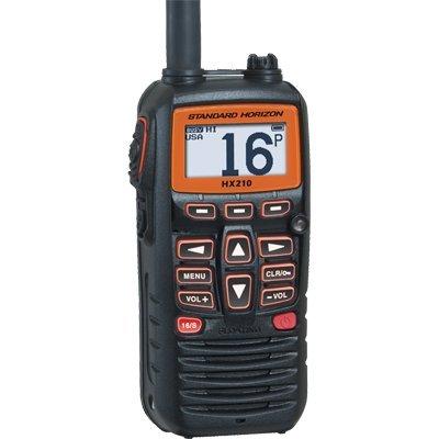 STANDARD HORIZON HX210 Handheld VHF Radio (Color: black)