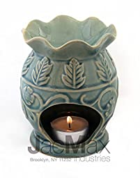 Expressive Scent Ceramic Burner for Oil and Wax Melts - Fragrance Oil Warmer Lamp Blue 26-21