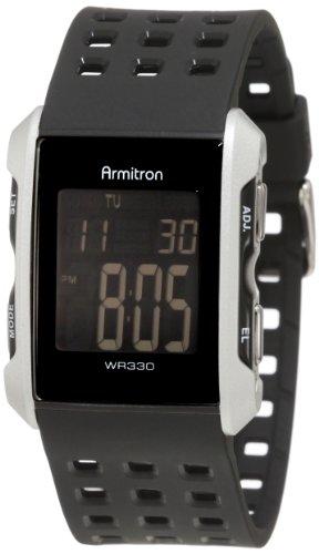 armitron sport men s 408177sil silver tone and black
