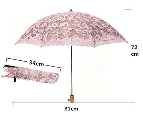 honeystore lace travel parasol twice folding anti uv sunshade windproof umbrella yellow home. Black Bedroom Furniture Sets. Home Design Ideas