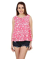 butterfly print layer top