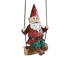 Design Toscano EU5795 Sammy The Swinging Gnome Statue Quantity: Single