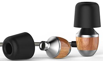 CollectionAudio木製 高音質 カナル型 イヤホン 低音重視 臨場感溢れる 遮音 スマホ用 ナチュラル K4