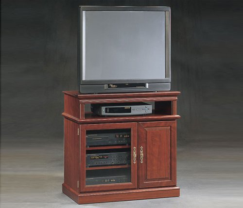Classic Cherry Entertainment Stand Heritage Hill Classic Cherry Collection by Sauder Office Furnitur