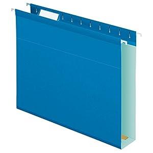 Pendaflex Extra Capacity Reinforced Hanging Folders, Letter Size, Blue, 25 per Box (4152X2BLU)