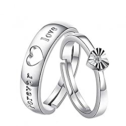 19 Likes Silver Silver Plated Couple Ring For Women & Men