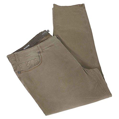 Calzone pantalone taglie forti uomo Maxfort NIZZA sabbiato stretch - Blu scuro, 68 GIROVITA 136 CM