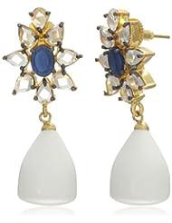 Bansri Drop And Dangler Earring For Women (White) (ERG86-551-10 WHT)