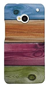DailyObjects Wooden Rainbow Case For HTC One (Back Cover)