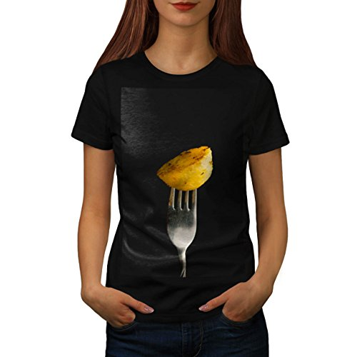 Roast Cooked Potatoe Photography Women NEW Black XL T-shirt | Wellcoda (Roast Potatoes Recipe compare prices)
