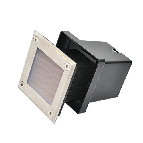 Silbo Sb8314 Low Voltage 12V 4W Led Square In-Ground Outdoor Landscape Waterproof Flood Light -5500K-35 Watt Equal