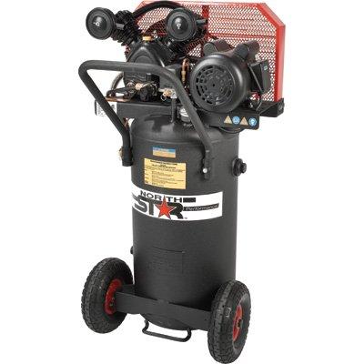 - NorthStar Belt Drive Single-Stage Portable Air Compressor - 2 HP, 20-Gallon, Vertical, 5.5 CFM