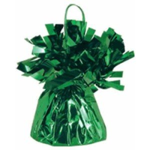 Green Metallic Balloon Weight, 6oz 6 Per Pack