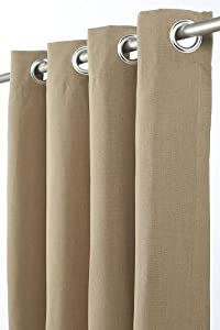 "Outdoor Curtain Panel, 50""W x 84""L, HEATHER BEIGE"