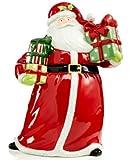 """Certified International Christmas Presents 12.5"""" Santa Cookie Jar"""