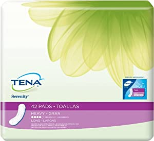 TENA Serenity Pads, Secure Bladder Protection, Heavy, Long, 42 Count