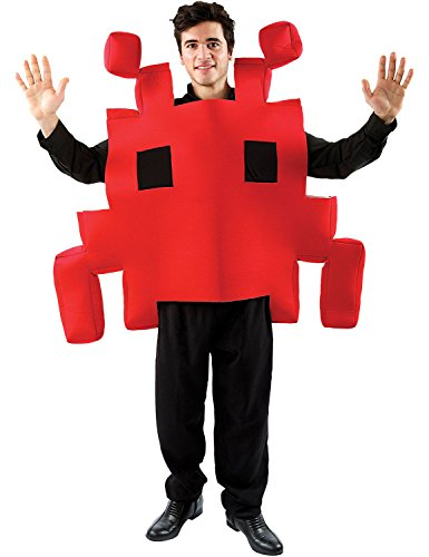 Adult Red Space Arcade Game Costume. Quick and easy foam costume. Slip on and party!